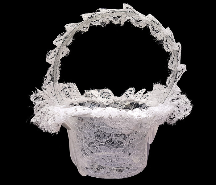 1006-603 Flower Baskets lace Covered Acetate 3.00