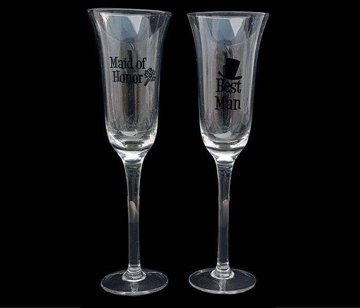 120-608 Toasting Glasses Best Man and Bridesmaid 15.00