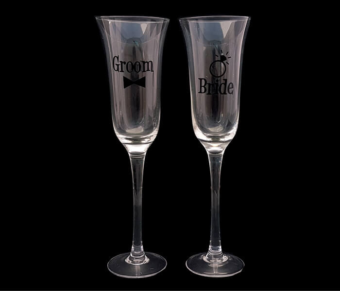 120-609 Toasting Glasses Bride and Groom 15.00