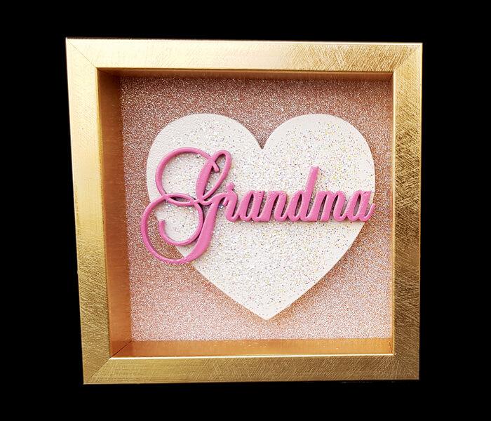 87796-(GRANDMA) $6.95 Small Heart Plaque