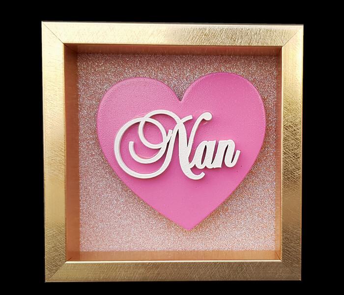 87796-(Nan) $6.95 Small Heart Plaque