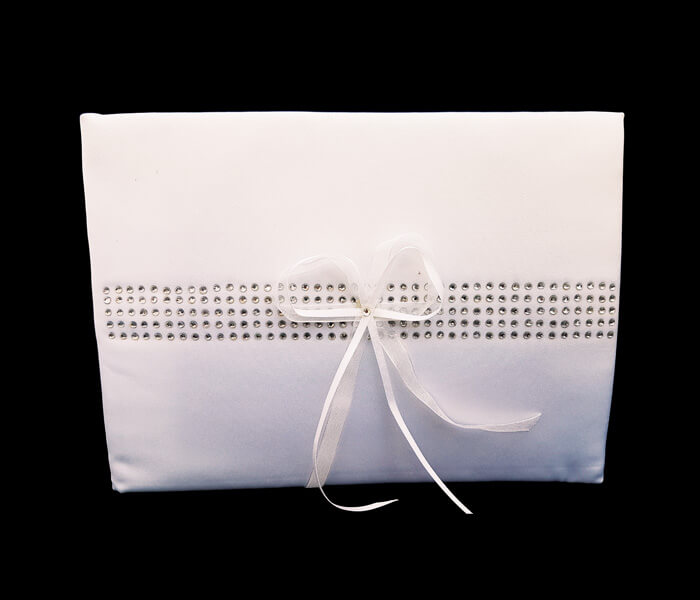 EL-516 1 Only Guest Book Bling Rows Comes with Bride _ Groom Family Pages Bride _ Groom Attendants Pages with 60 Pages for Guests to Sign 10.50