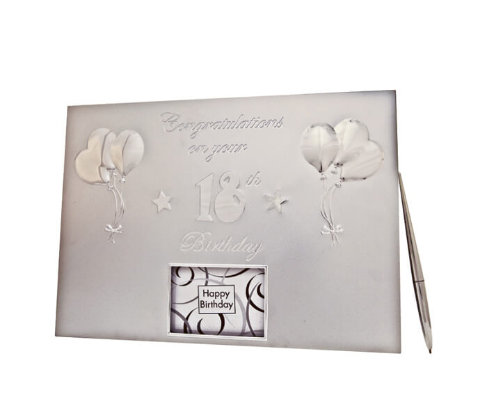 MTD18-$16.50 Guestbook _ Pen. Contains 36 Pages (Best Wishes, Guests, Gifts)