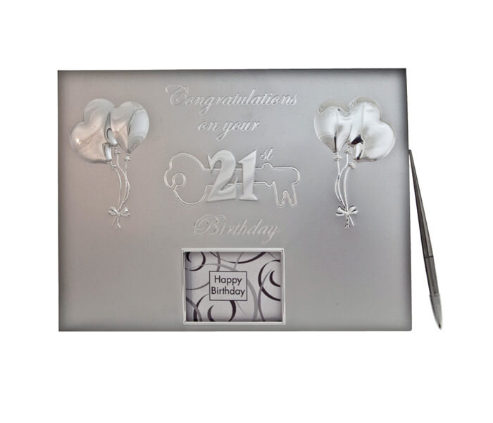 MTD21-$16.50 Guestbook _ Pen. Contains 36 Pages (Best Wishes, Guests, Gifts)