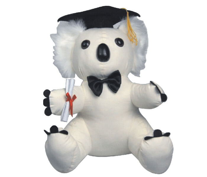 SKO2 $9.20 Graduation Message Koala with pen 28cm